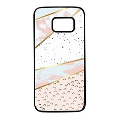 Collage,white Marble,gold,silver,black,white,hand Drawn, Modern,trendy,contemporary,pattern Samsung Galaxy S7 Black Seamless Case by 8fugoso