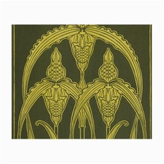 Art Nouveau Green Small Glasses Cloth (2 Side) by 8fugoso