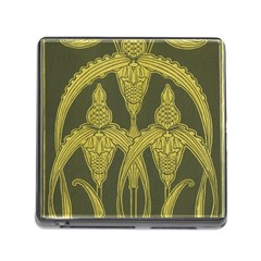 Art Nouveau Green Memory Card Reader (square) by 8fugoso