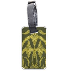 Art Nouveau Green Luggage Tags (one Side)  by 8fugoso