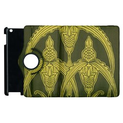 Art Nouveau Green Apple Ipad 3/4 Flip 360 Case by 8fugoso