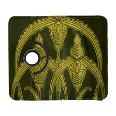Art Nouveau Green Galaxy S3 (flip/folio) by 8fugoso