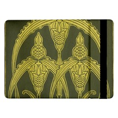 Art Nouveau Green Samsung Galaxy Tab Pro 12 2  Flip Case by 8fugoso