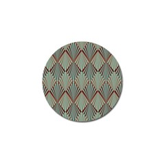 Art Deco Teal Brown Golf Ball Marker (4 Pack) by 8fugoso
