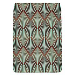Art Deco Teal Brown Flap Covers (l)  by 8fugoso