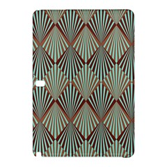 Art Deco Teal Brown Samsung Galaxy Tab Pro 12 2 Hardshell Case by 8fugoso