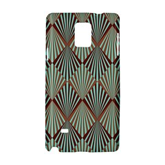 Art Deco Teal Brown Samsung Galaxy Note 4 Hardshell Case by 8fugoso