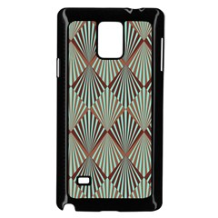 Art Deco Teal Brown Samsung Galaxy Note 4 Case (black) by 8fugoso