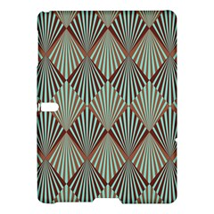 Art Deco Teal Brown Samsung Galaxy Tab S (10 5 ) Hardshell Case  by 8fugoso
