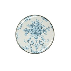 Blue Vintage Floral  Hat Clip Ball Marker (10 Pack) by 8fugoso
