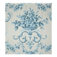Blue Vintage Floral  Shower Curtain 66  X 72  (large)  by 8fugoso