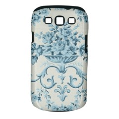 Blue Vintage Floral  Samsung Galaxy S Iii Classic Hardshell Case (pc+silicone) by 8fugoso