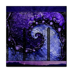 Beautiful Violet Spiral For Nocturne Of Scorpio Tile Coasters by jayaprime