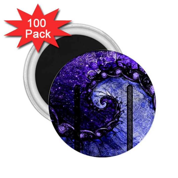 Beautiful Violet Spiral For Nocturne Of Scorpio 2.25  Magnets (100 pack)