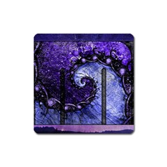 Beautiful Violet Spiral For Nocturne Of Scorpio Square Magnet by jayaprime