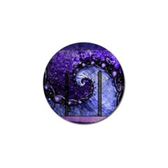 Beautiful Violet Spiral For Nocturne Of Scorpio Golf Ball Marker (4 Pack) by jayaprime