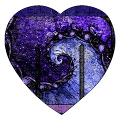 Beautiful Violet Spiral For Nocturne Of Scorpio Jigsaw Puzzle (heart) by jayaprime