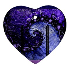 Beautiful Violet Spiral For Nocturne Of Scorpio Heart Ornament (two Sides) by jayaprime