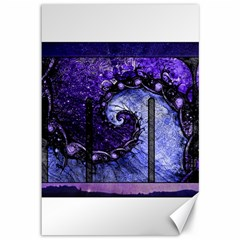 Beautiful Violet Spiral For Nocturne Of Scorpio Canvas 12  X 18   by jayaprime