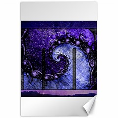 Beautiful Violet Spiral For Nocturne Of Scorpio Canvas 24  X 36  by jayaprime