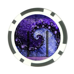 Beautiful Violet Spiral For Nocturne Of Scorpio Poker Chip Card Guard by jayaprime