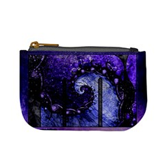 Beautiful Violet Spiral For Nocturne Of Scorpio Mini Coin Purses