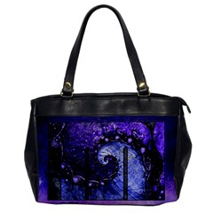 Beautiful Violet Spiral For Nocturne Of Scorpio Office Handbags by jayaprime