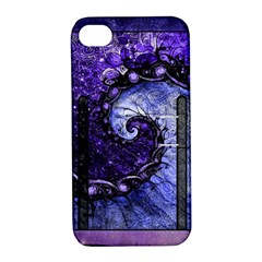 Beautiful Violet Spiral For Nocturne Of Scorpio Apple Iphone 4/4s Hardshell Case With Stand by jayaprime