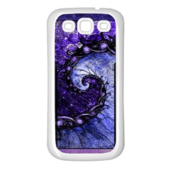 Beautiful Violet Spiral For Nocturne Of Scorpio Samsung Galaxy S3 Back Case (white) by jayaprime
