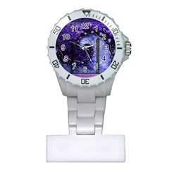 Beautiful Violet Spiral For Nocturne Of Scorpio Plastic Nurses Watch by jayaprime