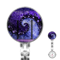 Beautiful Violet Spiral For Nocturne Of Scorpio Stainless Steel Nurses Watch by jayaprime