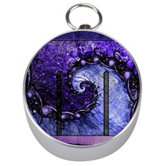 Beautiful Violet Spiral For Nocturne Of Scorpio Silver Compasses by jayaprime