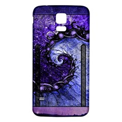 Beautiful Violet Spiral For Nocturne Of Scorpio Samsung Galaxy S5 Back Case (white) by jayaprime