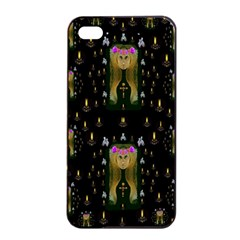 Queen In The Darkest Of Nights Apple Iphone 4/4s Seamless Case (black) by pepitasart