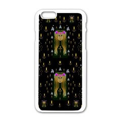 Queen In The Darkest Of Nights Apple Iphone 6/6s White Enamel Case by pepitasart