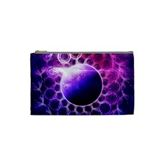 Beautiful Violet Nasa Deep Dream Fractal Mandala Cosmetic Bag (small)  by jayaprime