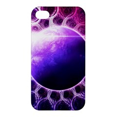 Beautiful Violet Nasa Deep Dream Fractal Mandala Apple Iphone 4/4s Premium Hardshell Case by jayaprime