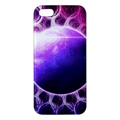 Beautiful Violet Nasa Deep Dream Fractal Mandala Apple Iphone 5 Premium Hardshell Case by jayaprime