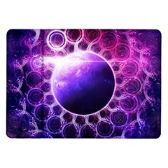 Beautiful Violet Nasa Deep Dream Fractal Mandala Samsung Galaxy Tab 10 1  P7500 Flip Case by jayaprime