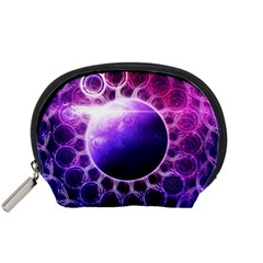 Beautiful Violet Nasa Deep Dream Fractal Mandala Accessory Pouches (small)  by jayaprime