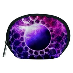 Beautiful Violet Nasa Deep Dream Fractal Mandala Accessory Pouches (medium)  by jayaprime