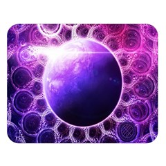 Beautiful Violet Nasa Deep Dream Fractal Mandala Double Sided Flano Blanket (large)  by jayaprime