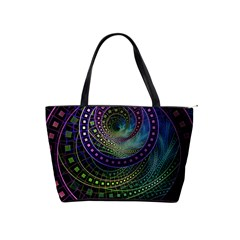 Oz The Great With Technicolor Fractal Rainbow Shoulder Handbags