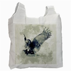 Cute Owl In Watercolor Recycle Bag (one Side) by FantasyWorld7