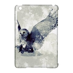 Cute Owl In Watercolor Apple Ipad Mini Hardshell Case (compatible With Smart Cover) by FantasyWorld7