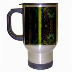 Bread Sticks And Fantasy Flowers In A Rainbow Travel Mug (Silver Gray)