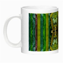 Bread Sticks And Fantasy Flowers In A Rainbow Night Luminous Mugs by pepitasart