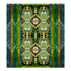 Bread Sticks And Fantasy Flowers In A Rainbow Shower Curtain 66  x 72  (Large)