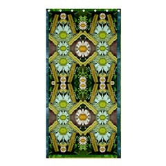 Bread Sticks And Fantasy Flowers In A Rainbow Shower Curtain 36  x 72  (Stall)