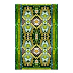 Bread Sticks And Fantasy Flowers In A Rainbow Shower Curtain 48  x 72  (Small)
